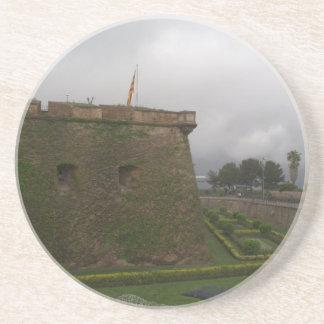 Montjuic Schloss, Barcelona Sandstein Untersetzer