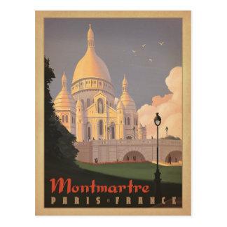 Montmartre - Paris, Frankreich Postkarte