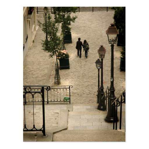Montmartre tritt Postkarte