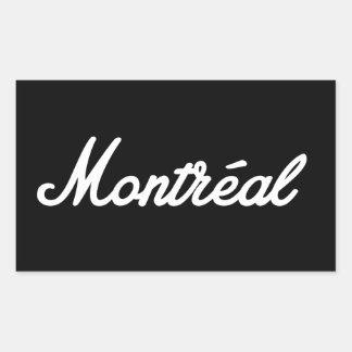 Montreal-Felsenaufkleber! Rechteckiger Aufkleber