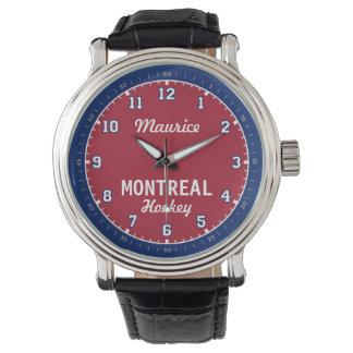 Montreal-Hockey 1/2-stündige Stunden-Uhr Armbanduhr