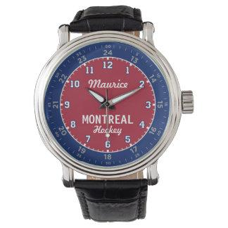 Montreal-Hockey 24 Stunden-Uhr Armbanduhr
