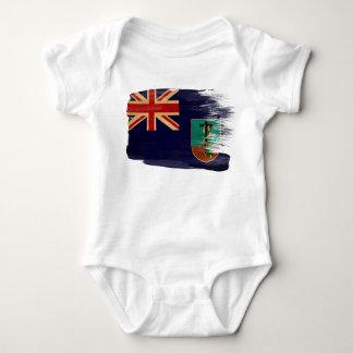 Montserrat-Flagge Baby Strampler