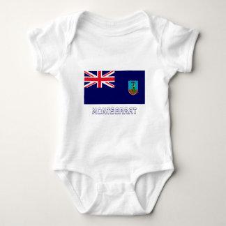 Montserrat-Flagge mit Namen Baby Strampler