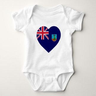 Montserrat-Flaggen-Herz Baby Strampler