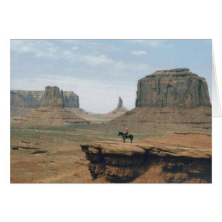 Monument-Tal mit Cowboy Karte