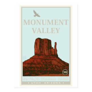 Monument-Tal-Navajo-Stammes- Park Postkarte
