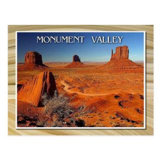 Monument-Tal, Utah und Arizona Postkarte