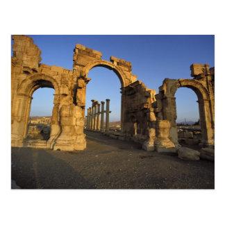 Monumentaler Bogen, Palmyra, Homs, Syrien Postkarte