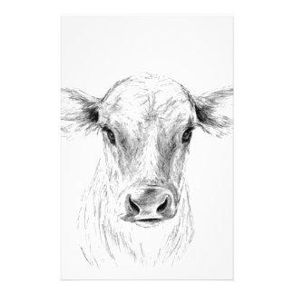 MOO eine junge Jersey-Kuh Briefpapier