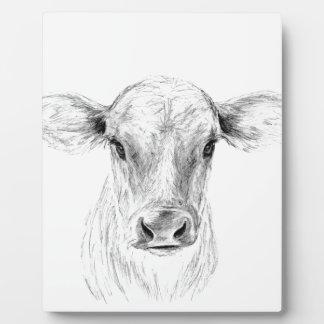 MOO eine junge Jersey-Kuh Fotoplatte