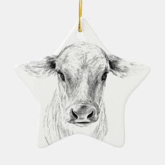 MOO eine junge Jersey-Kuh Keramik Ornament