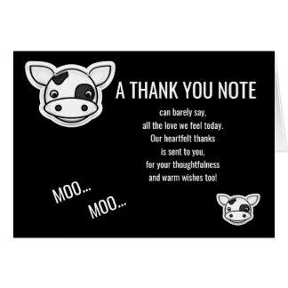 MOO-Kuh danken Ihnen Karte