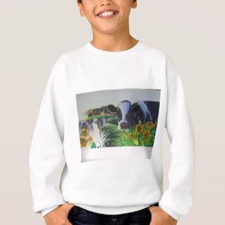 MOO-Kuh mit Sonnenblumen Sweatshirt