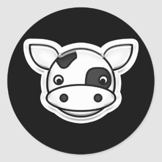 MOO-Kuh Runder Aufkleber