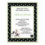 MOO-Kuh-Schwarz-weiße grüne Baby-Duschen-Einladung Postkarten