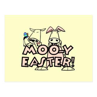 MOO-y Ostern T - Shirts und Geschenke Postkarte