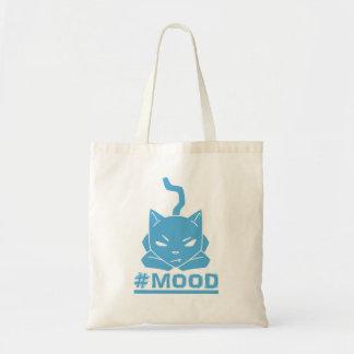 #MOOD Katzen-blaue Logo-Illustration Tragetasche