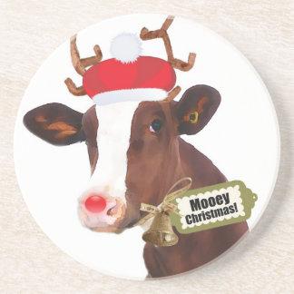 Mooey frohe Weihnacht-Ren-Kuh Untersatz