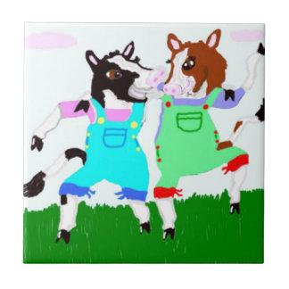 Moohug Entwürfe mit Kühen Fliese