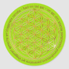 Moola Mantra / Blume Des Lebens / greenlight BG Runder Aufkleber