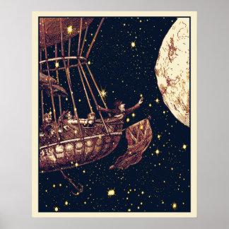 "Moon Ballon-Plakat, 18"" x 22,5"", Halb-Glanz, MED Poster"