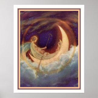 Moon Boot zum Traumland - Hugh Williams 16 x 20 Poster