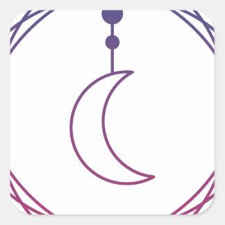 Moon Quadratischer Aufkleber