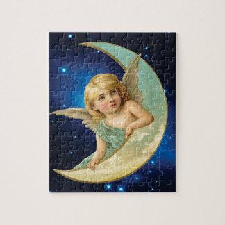 Moonbeam - Engel und Mond-Collage Puzzle
