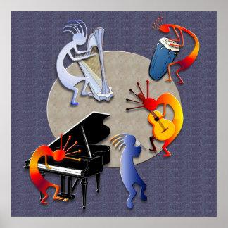 Moonlit Jazz-Sitzung Poster