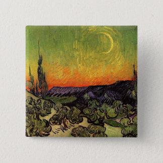Moonlit Landschaft Vincent van Goghs Quadratischer Button 5,1 Cm