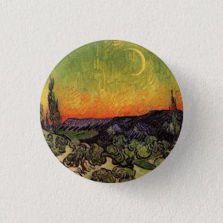 Moonlit Landschaft Vincent van Goghs Runder Button 2,5 Cm
