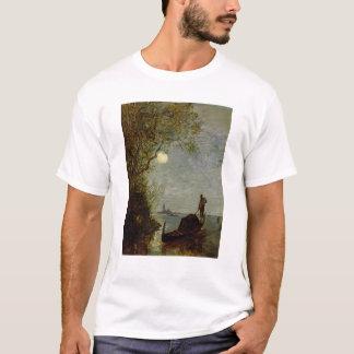 Moonlit Szene mit Gondel T-Shirt