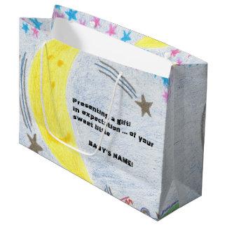 Moonlit Traum-Babyparty-große Geschenk-Tasche Große Geschenktüte