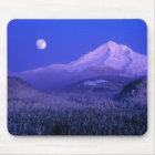 Moonrise in Mt-Haubenwinter, Oregon Mousepad