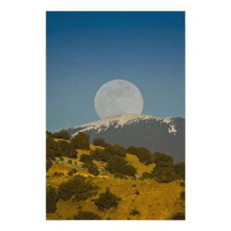 Moonrise über Sangre de Cristo Mountains, Kunstphoto