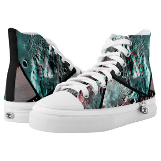 Moonscape Raum-Foto-Anaglyph Hoch-geschnittene Sneaker