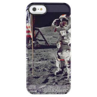 Moonwalk Apollo 17 Durchsichtige iPhone SE/5/5s Hülle