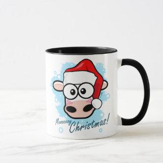 Mooooooy Weihnachtsfestliche Kuh Tasse