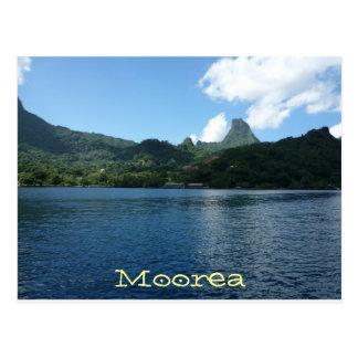 Moorea Insel, das französische Polynesien Postkarte