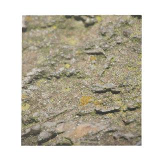 Moos auf Felsen Notizblock