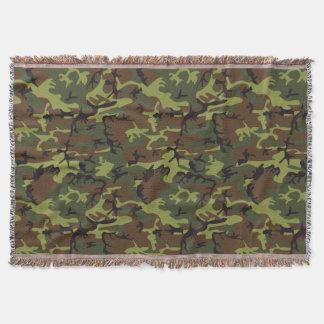 Moos-Grün-Camouflage-Muster Decke