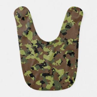 Moos-Grün-Militär-Camouflage Babylätzchen