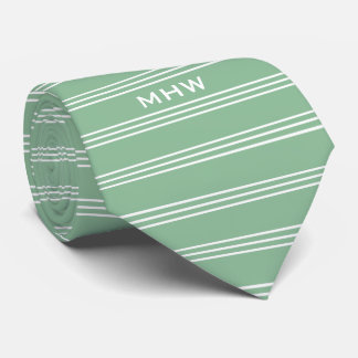 Moos-Grün Stripes kundenspezifische Bedruckte Krawatte