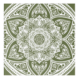 Moos-Mandala Acryldruck