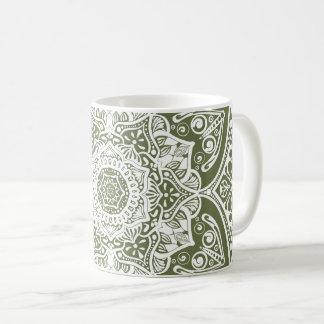 Moos-Mandala Kaffeetasse