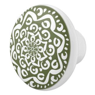 Moos-Mandala Keramikknauf