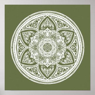 Moos-Mandala Poster