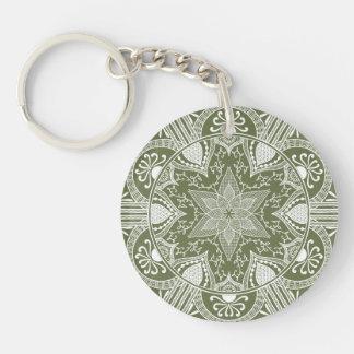 Moos-Mandala Schlüsselanhänger