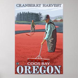 Moosbeersumpf-Ernte - Gurren-Bucht, Oregon Poster